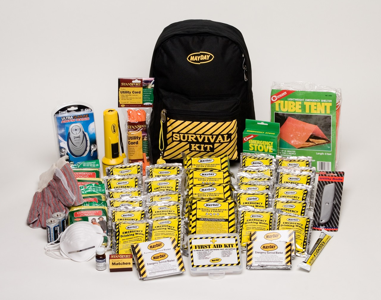 Mayday 4 Person Deluxe Emergency Preparedness Kit >>