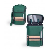 Picnic Time Duet - Green Deluxe Wine Tote