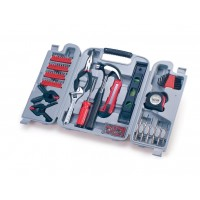Picnic Time Tool Kit - 147 Piece Set Grey With Red Tools