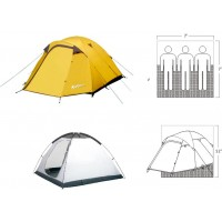 Gigatent Mt Washington Spacious Tent for 2-3 people