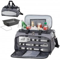 Buccaneer Barbecue Tote Gray W/Black And Silver