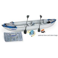 Sea Eagle 420X 14ft Inflatable Kayak Deluxe Package Includes Seats Paddles and Pump 2-3 Adults or 855 lbs