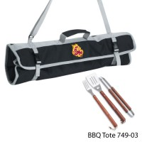 Arizona State Printed 3 Piece BBQ Tote BBQ set Black