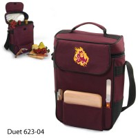 Arizona State Printed Duet Tote Burgundy