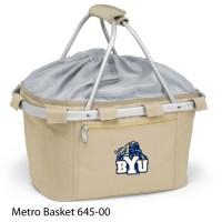 BYU Embroidered Metro Basket Picnic Basket Beige
