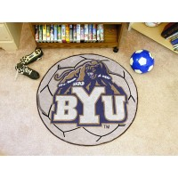 Brigham Young University Soccer Ball Rug