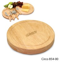 Clemson University Engraved Circo Cutting Board Natural