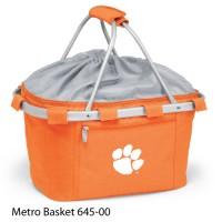 Clemson University Embroidered Metro Basket Picnic Basket Orange