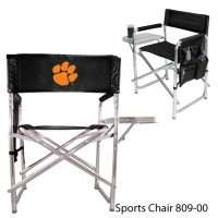 Clemson University Embroidered Sports Chair Black