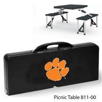 Clemson University Printed Picnic Table Black