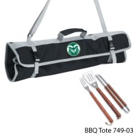 Colorado State Printed 3 Piece BBQ Tote BBQ set Black