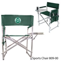 Colorado State Embroidered Sports Chair Hunter Green