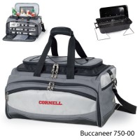 Cornell University Embroidered Buccaneer Cooler Grey/Black