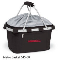 Cornell University Embroidered Metro Basket Picnic Basket Black