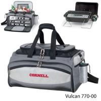 Cornell University Embroidered Vulcan BBQ grill Grey/Black