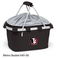 Florida State Embroidered Metro Basket Picnic Basket Black