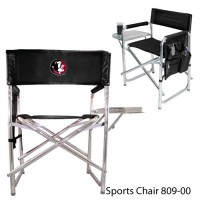 Florida State Embroidered Sports Chair Black