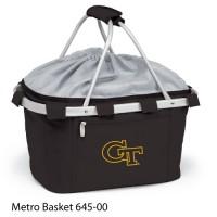 Georgia Tech Embroidered Metro Basket Picnic Basket Black