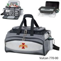 Iowa State Printed Vulcan BBQ grill Grey/Black