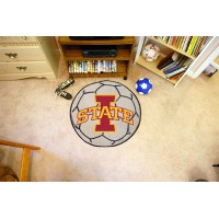 Iowa State University Soccer Ball Rug