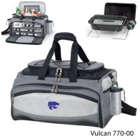 Kansas State Embroidered Vulcan BBQ grill Grey/Black