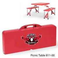 Miami University (Ohio) Printed Picnic Table Red