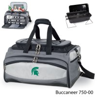 Michigan State Embroidered Buccaneer Cooler Grey/Black