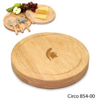 Michigan State Engraved Circo Cutting Board Natural