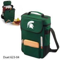 Michigan State Printed Duet Tote Hunter Green
