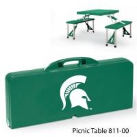Michigan State Printed Picnic Table Hunter Green