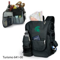 Michigan State Embroidered Turismo Tote Black
