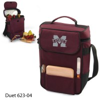 Mississippi State Embroidered Duet Tote Burgundy