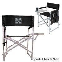 Mississippi State Embroidered Sports Chair Black