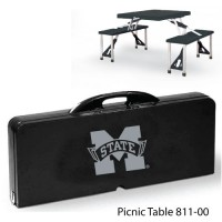 Mississippi State Printed Picnic Table Black