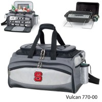North Carolina State Embroidered Vulcan BBQ grill Grey/Black