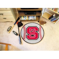 North Carolina State Baseball Rug