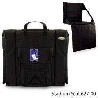 Northwestern Printed Stadium Seat Black