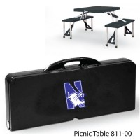 Northwestern Printed Picnic Table Black