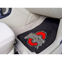 Ohio State University 2 Piece Front Car Mats