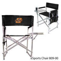 Oklahoma State Printed Sports Chair Black
