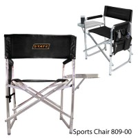 Oklahoma State Embroidered Sports Chair Black