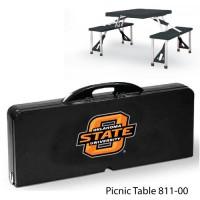 Oklahoma State Printed Picnic Table Black
