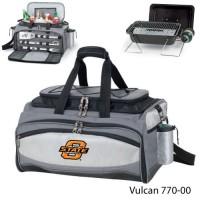 Oklahoma State Printed Vulcan BBQ grill Grey/Black