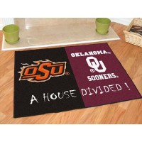 Oklahoma State - Oklahoma Sooners All-Star House Divided Rug