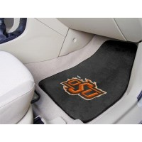 Oklahoma State University 2 Piece Front Car Mats