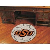 Oklahoma State University Soccer Ball Rug