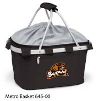Oregon State Embroidered Metro Basket Picnic Basket Black