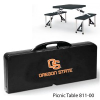 Oregon State Printed Picnic Table Black