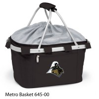 Purdue University Embroidered Metro Basket Picnic Basket Black