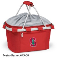 Stanford University Embroidered Metro Basket Picnic Basket Red